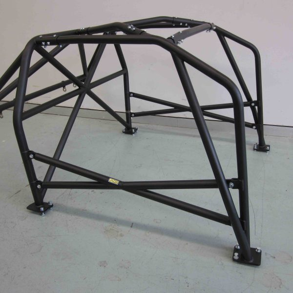 AGI - Nissan 180SX - 2017 CAMS spec Natoinal level Bolt-in Roll cage + Double door bars - Option F (floor pic - side)
