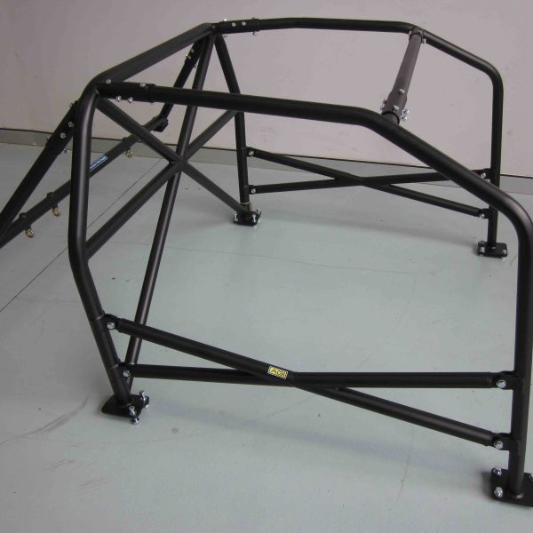 AGI - Nissan Silvia S13 - 2017 CAMS spec State level Bolt-in Roll cage + Double door bars - Option D (floor pic - side)