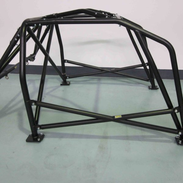 AGI - Nissan Silvia S14 - 2016 CAMS spec National level Bolt-in ROll cage + Double door bars - Option F (floor pic - side)
