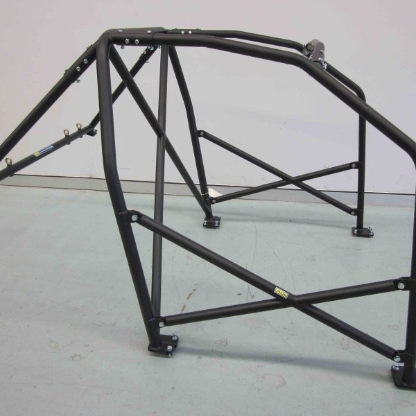 AGI - BMW E36 2dr - 2016 CAMS spec Bolt-in Roll cage + double door bars - Option D (floor pic - side)