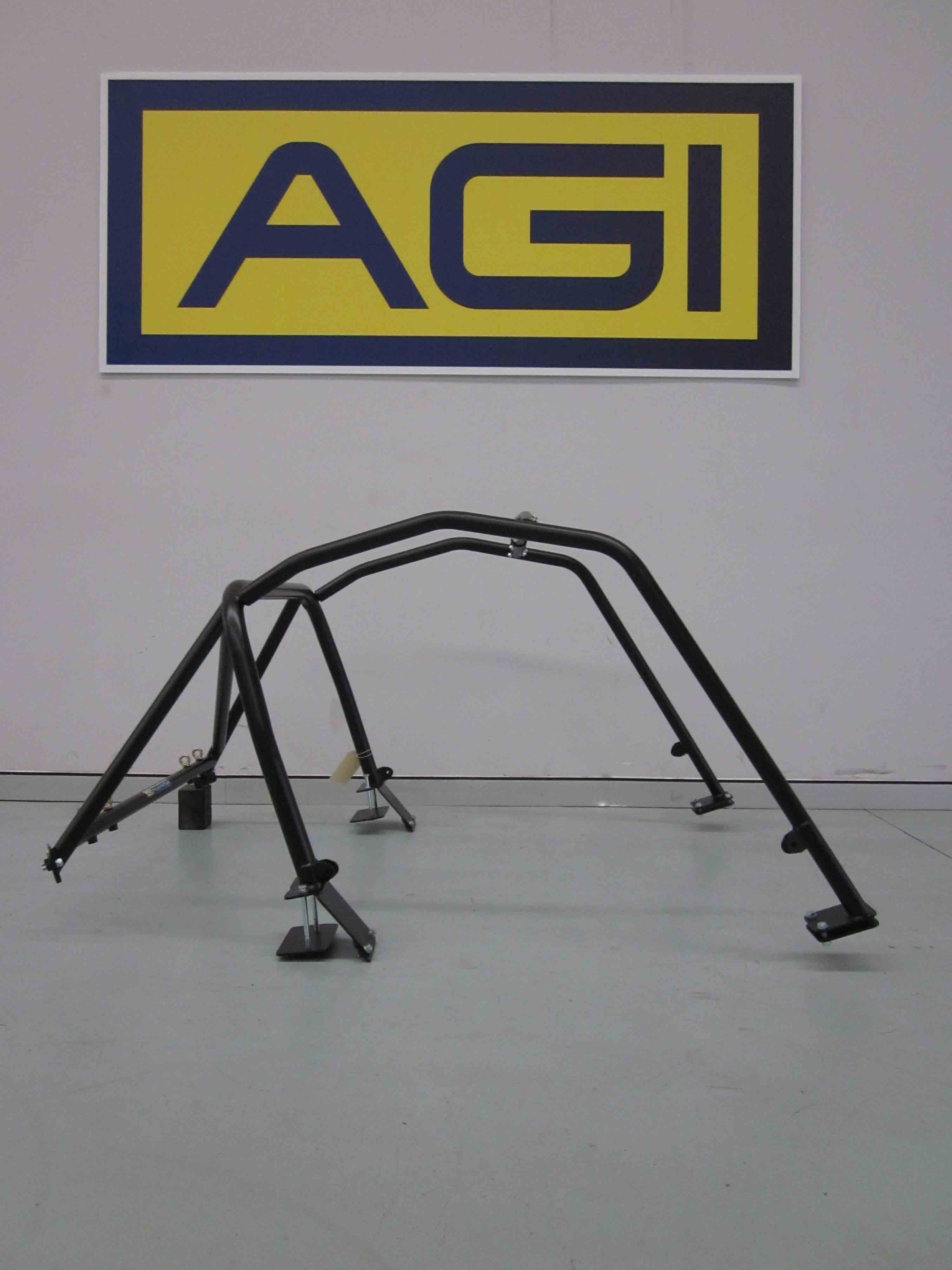 AGI - Mazda MX5 NA-NB (Hard-Top) - 2017 CAMS spec 6pt Basic Bolt-in Roll cage - Option B (floor pic - side)