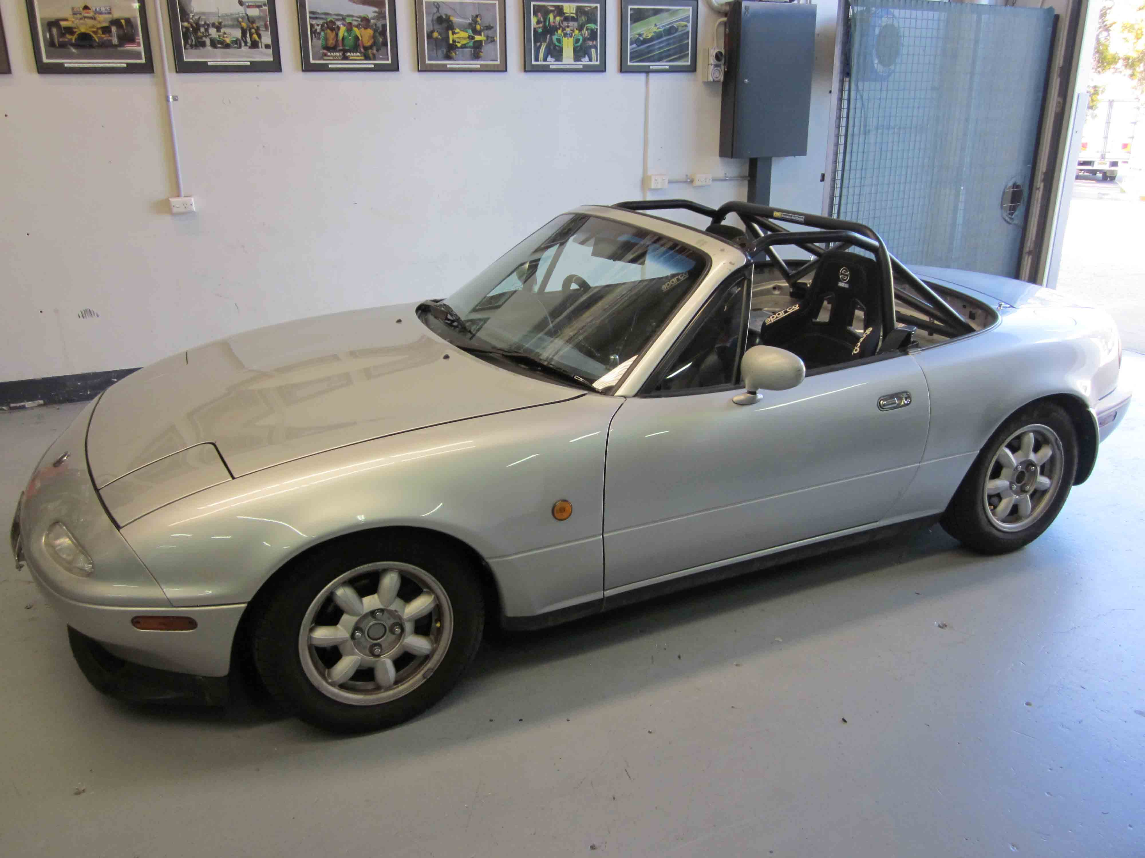 f mazda mx5 na nb hard top 6pt bolt in agi roll cages. Black Bedroom Furniture Sets. Home Design Ideas