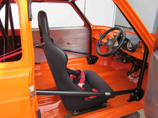 AGI - Fiat 127 - 2015 CAMS State level Bolt-in Roll cage - Option C (car pic - thru RH door)