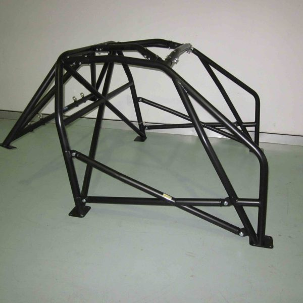 AGI - Mazda RX7 FB - 2017 CAMS spec National level Bolt-in Roll cage + double door bars - Option F (floor pic - side)